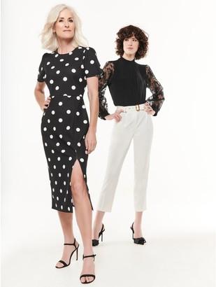 M&Co Spot print pencil dress