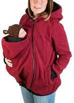 YINUOWEI Women Maternity Fleece Hoodie Kangaroo Sweatshirt Jacket Baby Carrier (2XL, )