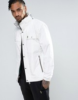 Luke 1977 Brownhills Jacket Concealed Hood Sport Zip In White