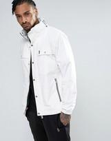 Luke 1977 Brownhills Jacket Concealed Hood Sport Zip In White