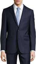 DKNY Solid Twill Two-Piece Suit, Navy