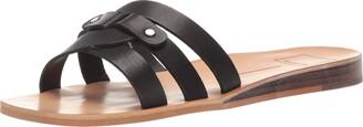 Dolce Vita Women's CAIT Slide Sandal white/multi leather 5.5 M US
