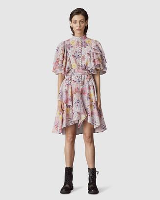 Leo & Lin Euphoria Cotton Linen Ruffled Mini Dress