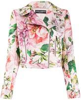 Dolce & Gabbana Floral Biker Jacket