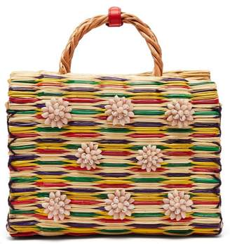 Heimat Atlantica - Chito Reed Basket Bag - Womens - Red Multi