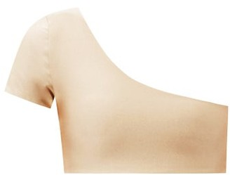 JADE SWIM Gemma One-shoulder Metallic-jersey Bikini Top - Light Grey