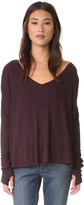Feel The Piece Robin V Neck Thermal Long Sleeve