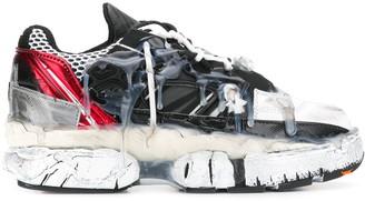 Maison Margiela Distressed Drip-Effect Sneakers