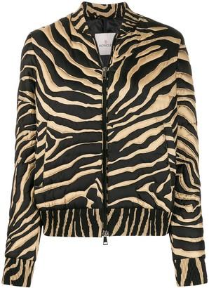 Moncler Tiger-Print Bomber Jacket