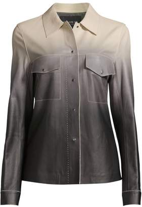 Lafayette 148 New York John Ombre Leather Jacket