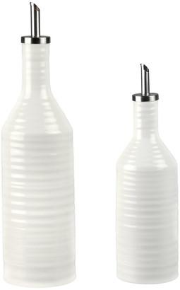 Sophie Conran White Porcelain Oil & Vinegar Drizzler Set
