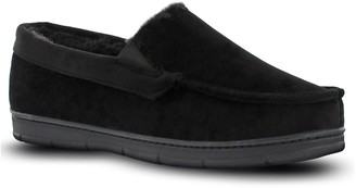 Van Heusen Men's Velour Moccasin Slippers