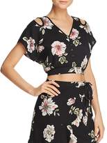 Band of Gypsies Floral-Print Cropped Top