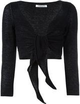 Lamberto Losani front tie bolero - women - Silk/Cashmere/other fibers - L