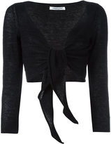 Lamberto Losani front tie bolero - women - Silk/Cashmere/other fibers - M
