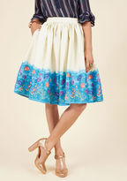 Collectif Made By Imagination Midi Skirt in Seascape in L