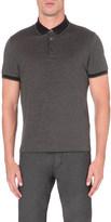 HUGO BOSS Contrast-trim cotton-jersey polo shirt