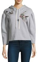 Rebecca Taylor Stars and Birds Cotton Hoodie