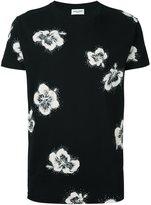 Saint Laurent hibiscus print T-shirt