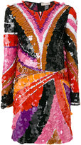 Emilio Pucci sequinned fitted mini dress