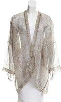 eskandar Abstract Print Silk Kimono