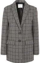 Tibi Aldridge Checked Wool-blend Tweed Blazer - Gray