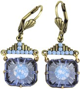 Swarovski Anne Koplik Crystal Blue Art Deco Earrings