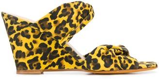 Maryam Nassir Zadeh Carine leopard-print wedge sandals