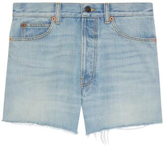 Gucci The North Face x eco denim shorts