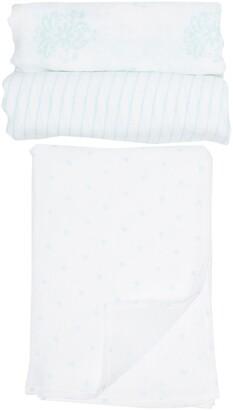 Little Me Medallion Swaddle Blankets - Pack of 3