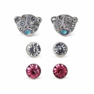 Me To You Set of 3 Crystal Stud Earrings - Pink