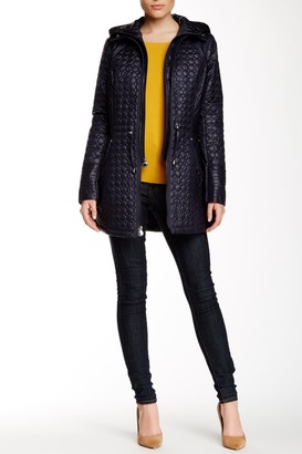 Laundry by Shelli Segal Hooded Quilt Coat