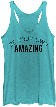 Fifth Sun Women's Tank Tops TAHI - Tahi Blue 'Be Your Own Amazing' Racerback Tank - Women & Juniors