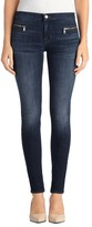 J Brand 8024 Emma Mid-Rise Super Skinny with Exposed Front Zipper in Reserved