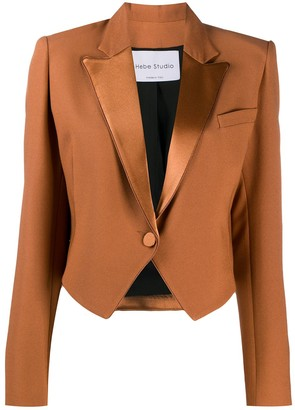 Hebe Studio Cropped Tailored Blazer