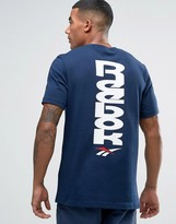 Reebok 90s Print T-shirt In Navy Bk6575