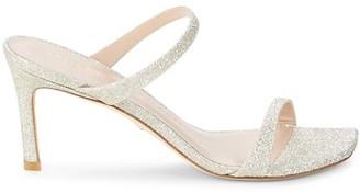 Stuart Weitzman Aleena Glittered Sandals