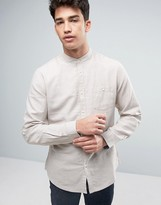 Threadbare Cotton Linen Grandad Long Sleeve Shirt