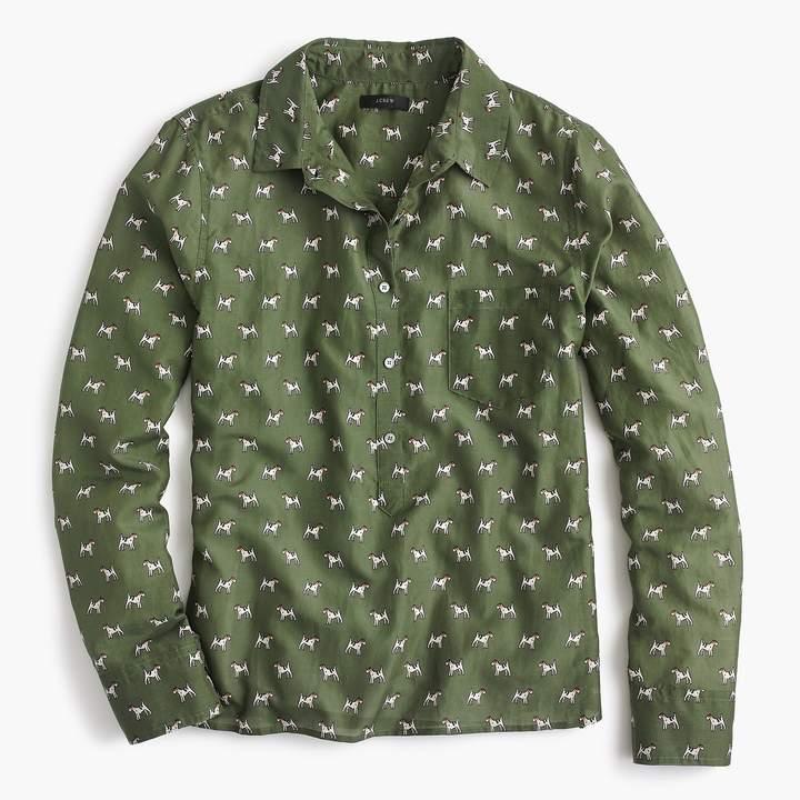J.Crew Petite popover shirt in Terrier print