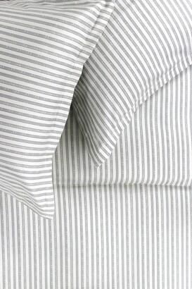 Melange Home Queen 400 Thread Count Cotton Bamboo Stripe Sheet 4-Piece Set