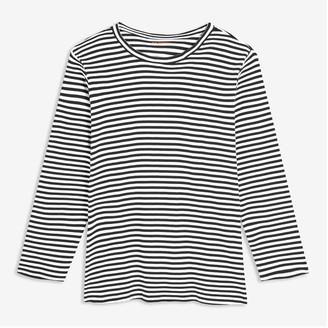 Joe Fresh Women+ Essential Stripe Tee, Blue (Size 1X)