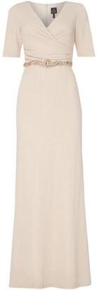 Adrianna Papell Long Sleeve Waisted Maxi Dress