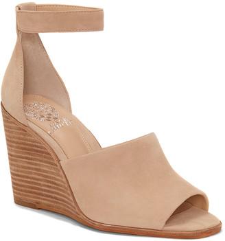 Vince Camuto Women's Sandals BUFF - Buff Deedrian Ankle-Strap Wedge Suede Sandal - Women