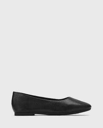 Wittner - Women's Black Flats - Art Leather Round Toe Flats - Size One Size, 38 at The Iconic