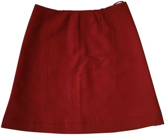 Miu Miu Red Wool Skirt for Women