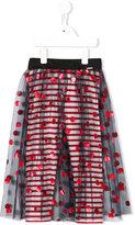 Junior Gaultier polka dot tulle skirt - kids - Polyamide/Spandex/Elastane/Viscose - 3 yrs