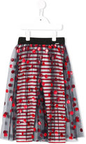 Junior Gaultier polka dot tulle skirt - kids - Polyamide/Spandex/Elastane/Viscose - 5 yrs