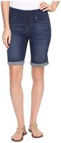 Liverpool Sienna Pull-On Rolled-Cuff Bermuda in Silky Soft Denim in Elysian Dark Women's Shorts