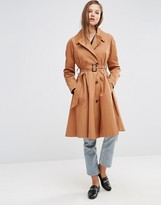 Asos Trench with Full Retro Skirt in Midi Length