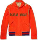 Gucci Appliquéd Cotton-Corduroy Bomber Jacket